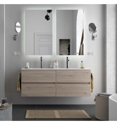 MUEBLE BAÑO SUSPENDIDO MODULAR FUSSION LINE DOBLE 140.5 CM