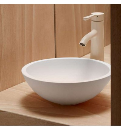 LAVABO SOBRE ENCIMERA REDONDO SOLID SURFACE POLARIS BATHCO